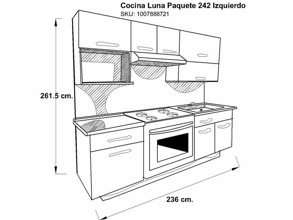 Medidas de muebles de cocina estandar ideas for Medidas banco cocina